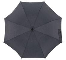 Зонт-трость rainVestment, темно-синий меланж