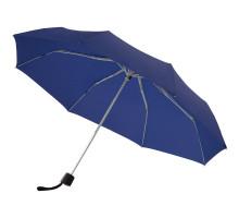Зонт складной Fiber Alu Light, темно-синий