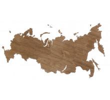 Деревянная карта России, орех