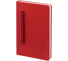 Ежедневник Magnet Shall с ручкой, красный