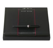 Набор Gear: папка с блокнотом и ручка, черный