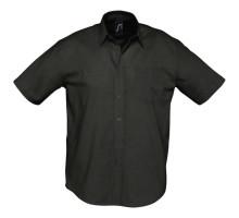 Рубашка мужская с коротким рукавом Brisbane, черная