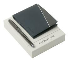 Набор Cerruti 1881: кошелек и роллер, синий