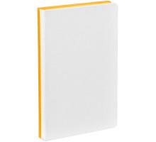 Ежедневник Duplex, недатированный, белый с желтым
