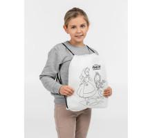 Рюкзак-раскраска с мелками «Алиса в стране чудес», белый