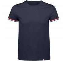 Футболка мужская Rainbow Men, темно-синяя с ярко-синим
