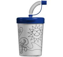 Детский стакан-раскраска «Передвижник», синий