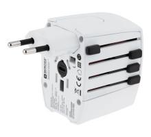 Зарядное устройство S-Kross MUV USB для путешествий, белое