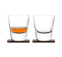 Набор стаканов Arran Whisky с деревянными подставками