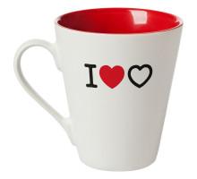 Кружка «Люблю любовь», белая с красным