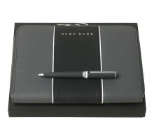 Набор Gear: папка с блокнотом и ручка, серый