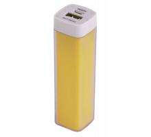 Внешний аккумулятор Bar, 2200 мАч, ver.2, желтый