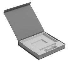 Коробка Memoria под ежедневник, аккумулятор и ручку, серая