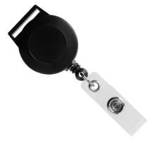 Ретрактор Attach с ушком для ленты, черный