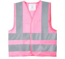 Жилет детский светоотражающий Glow, розовый