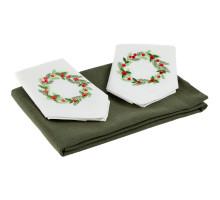 Набор текстиля Wintertainment, с рождественским венком